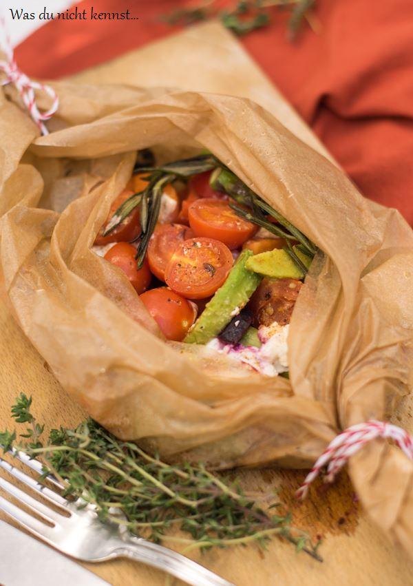 Gemüsepäckchen vom Grill