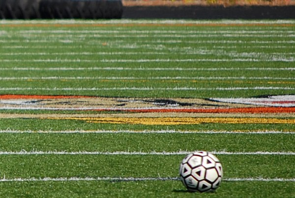 Image of Washburn stadium soccer field with soccer ball