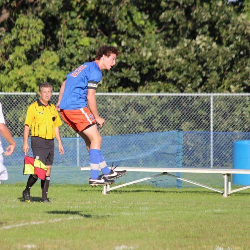 Washburn varsity soccer player Garrett Lieb