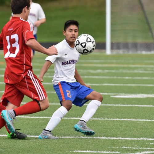 Washburn varsity soccer player Oscar Shulman