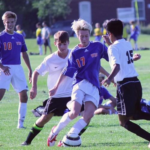 Washburn junior varsity soccer player Guthrie Thoerner