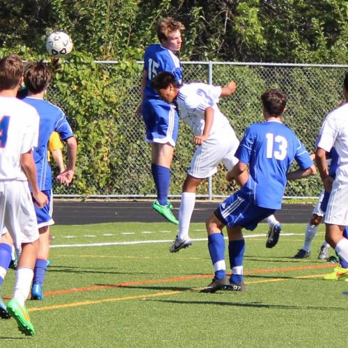 Washburn soccer player Kevin Rubio scores against Holy Angels