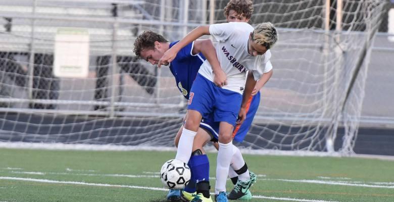 Washburn soccer varsity player Nick Steinkamp against Holy Angels