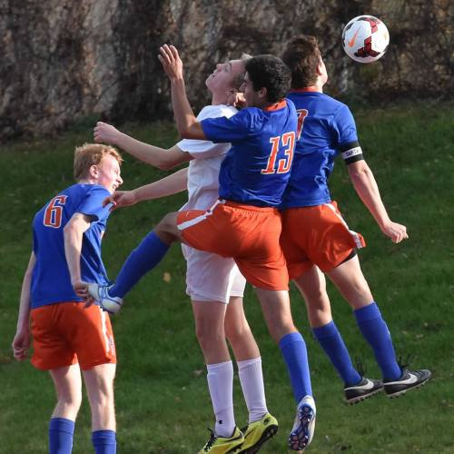 Washburn varsity boys soccer in action against Anoka