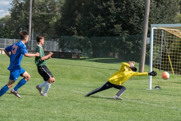 Washburn's 9A soccer squad in action against Edina
