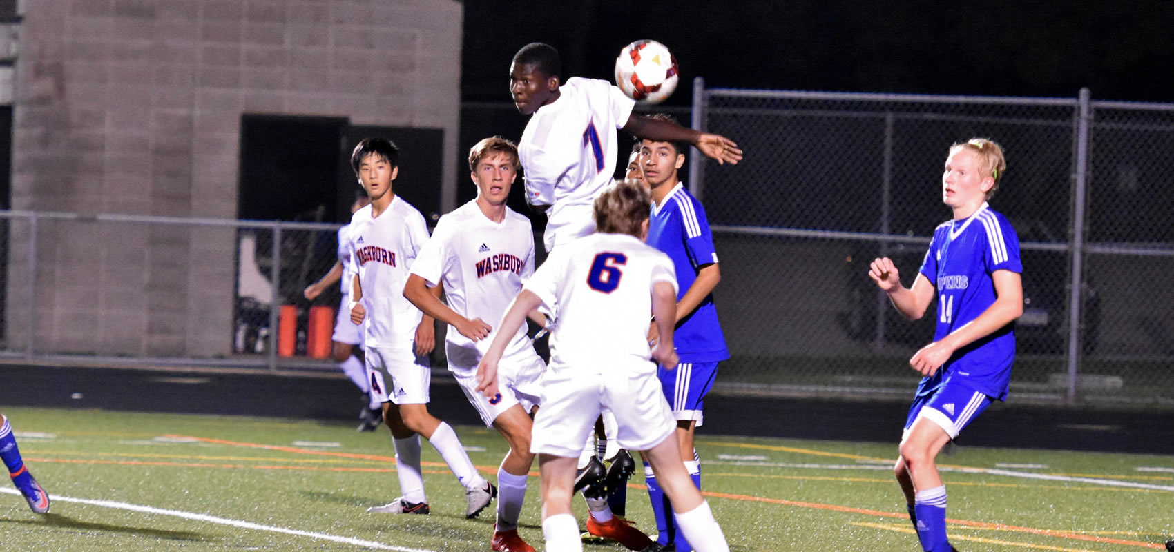 Action in Washburn soccer