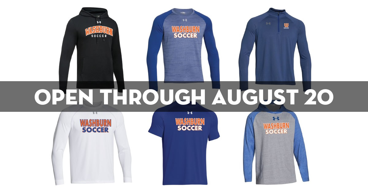 Washburn soccer online store now open