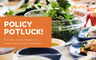 potluck image to promote resolutions gathering