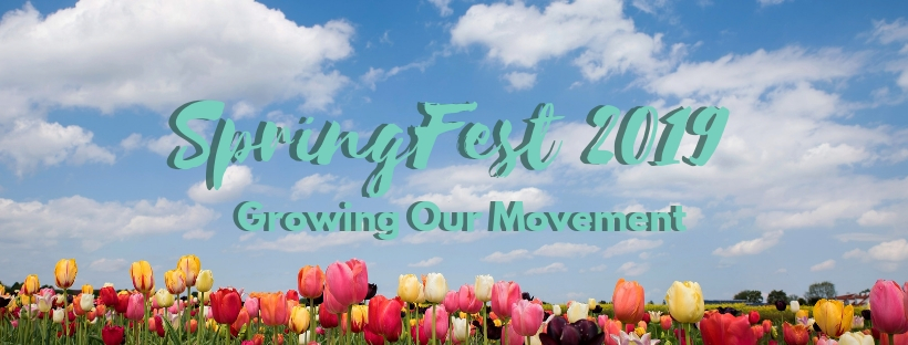 spring fest fundraiser promotional poster