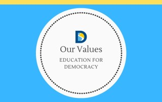 article series logo education for democracy