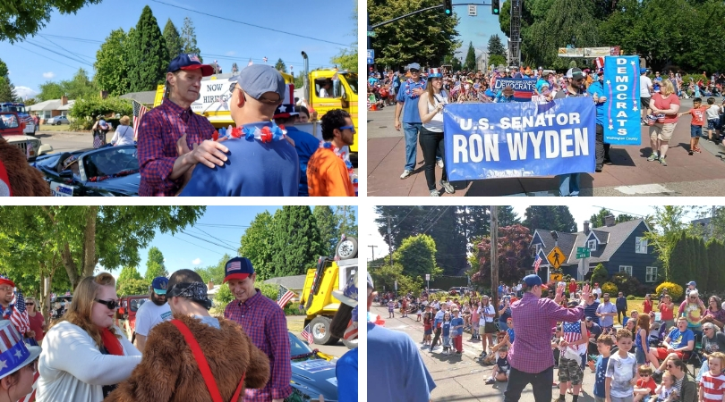 hillsboro 4th of july parade pictures featuring senator ron wyden