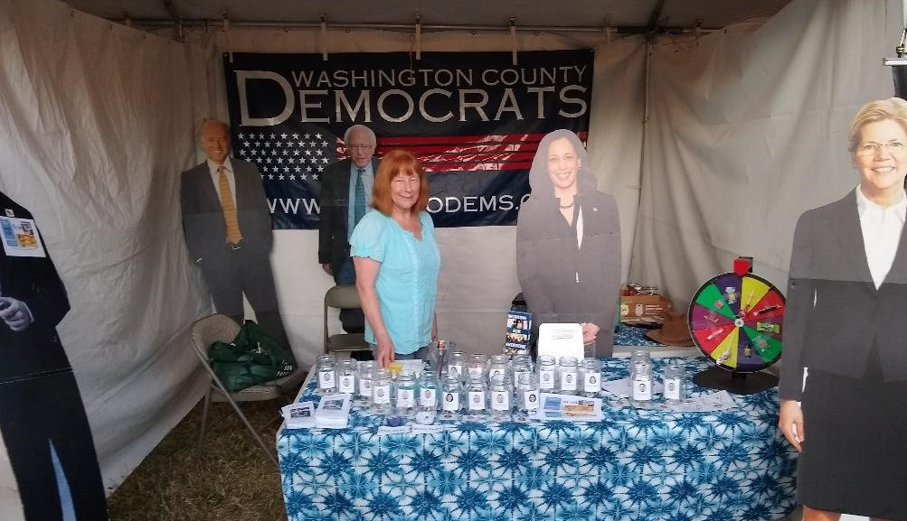 Rep Susan McLain the WashCo Dems Booth