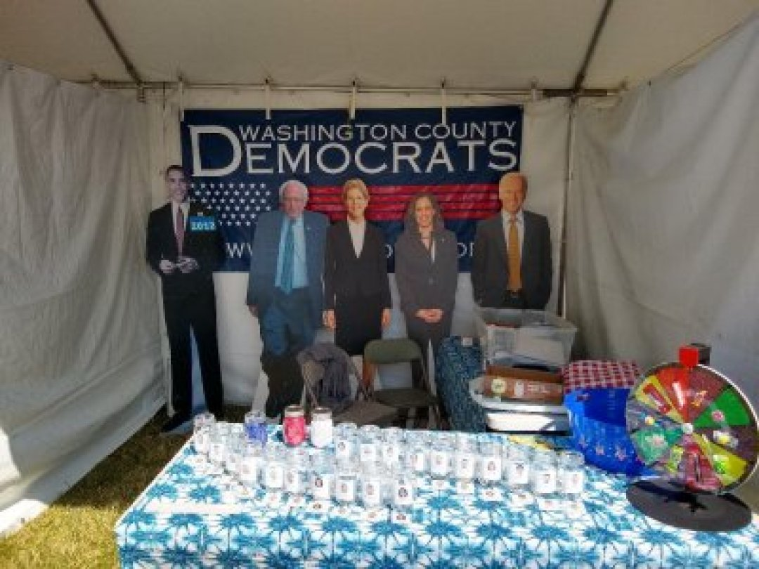 Cardboard Cutouts the WashCo Dems Booth