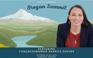 Oregon Summit promo with congresswoman sharice davids