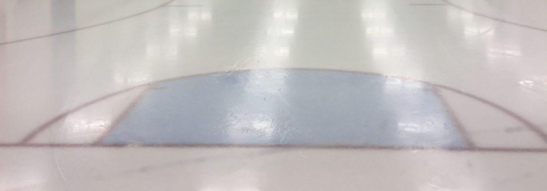 Fresh sheet of ice