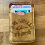 Second String Leather Company Cooper Armadillo Thumb Money Clip