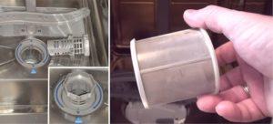 Bulaşık makinesi filtresini temizleyin