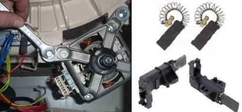 Yıkayıcı toplayıcı motor fırçalarını değiştirin