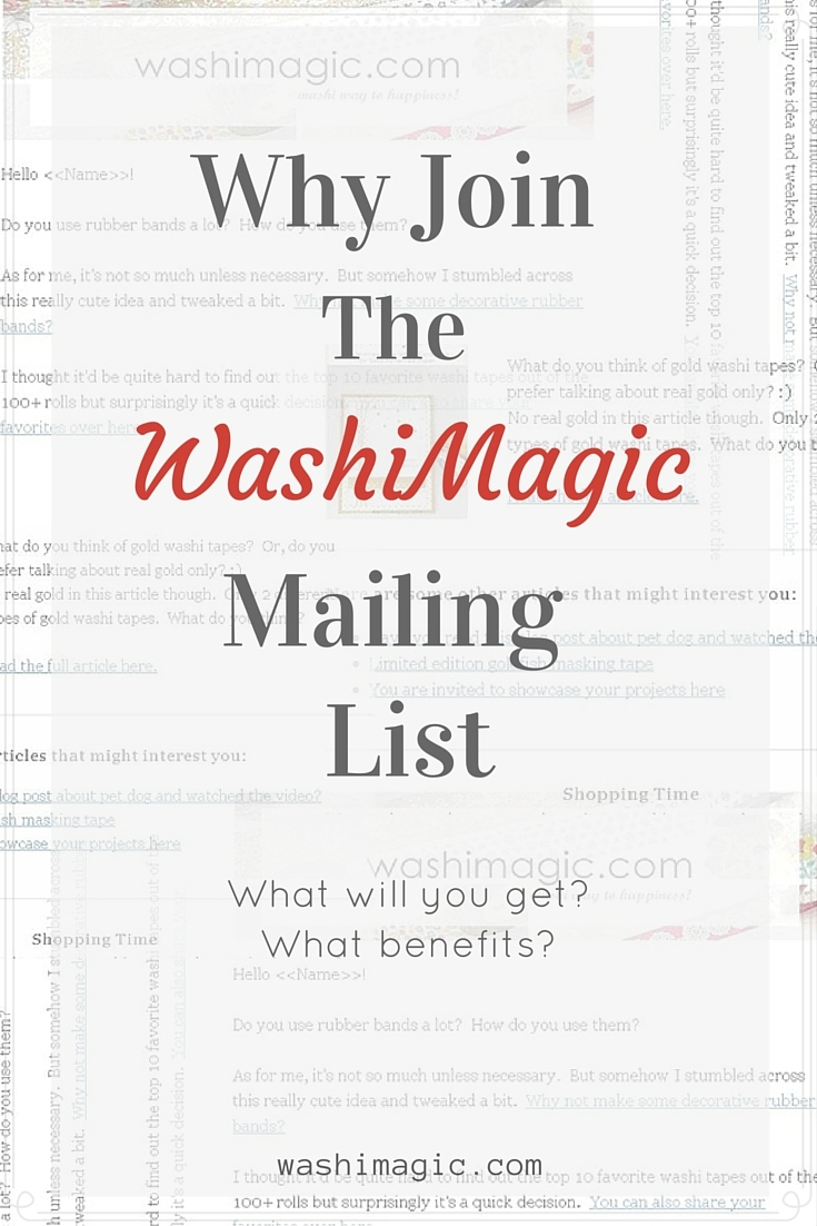 Why Join The Washimagic Mailing List?