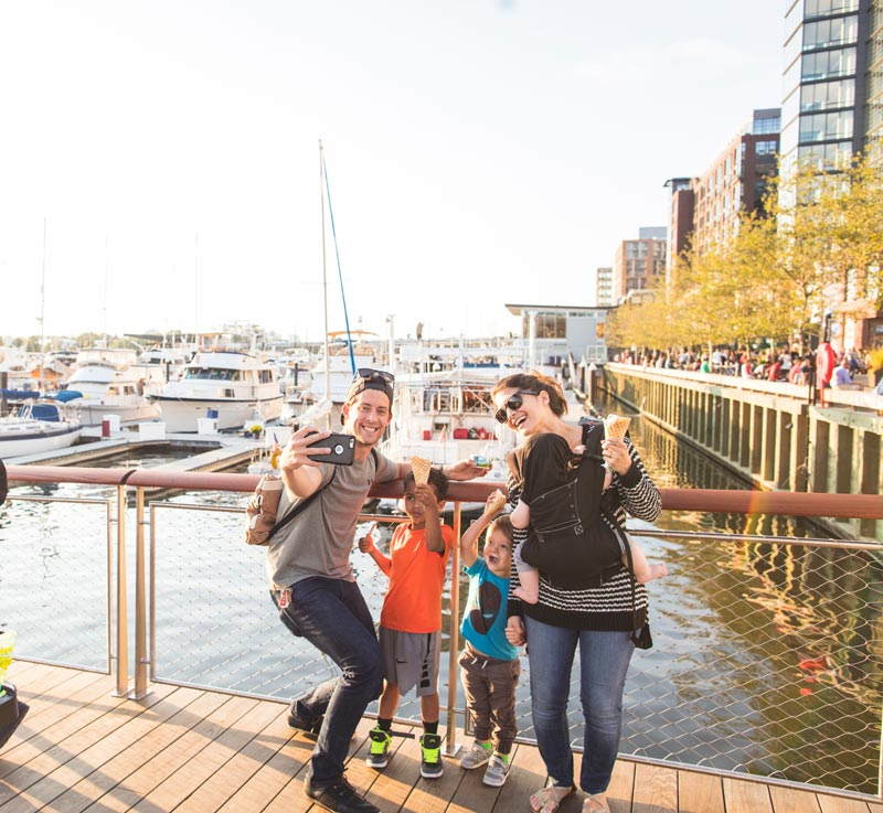 Family at The Wharf on the Southwest Waterfront - Dining and Shopping Destination in Washington, DC