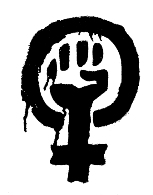 Stencil of Woman Power