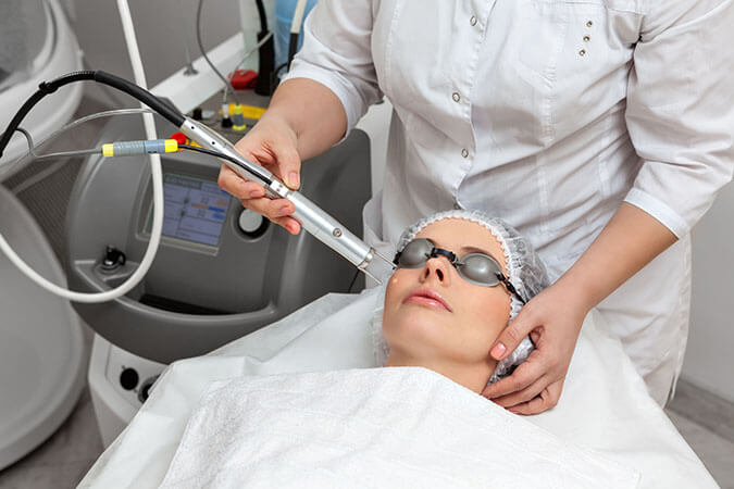 What is the process of laser treatment by a dermatologist ...