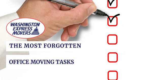 The Most Forgotten Office Moving Tasks