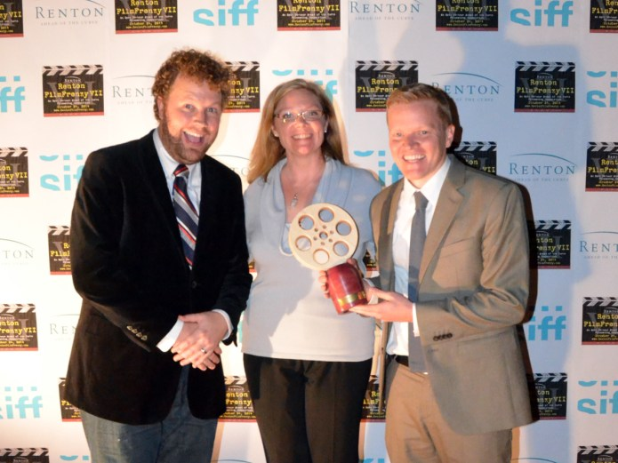 Amy Lillard with the Best Picture Award recipients. Photo credit: Kelly Balcomb-Bartok