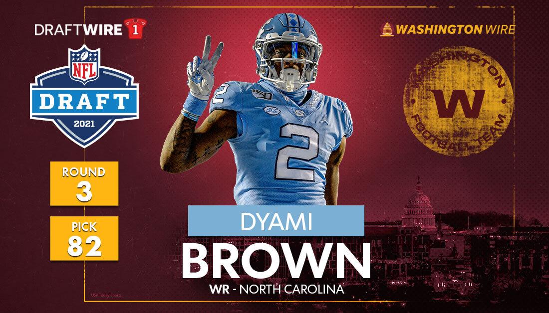Washington Football: WFT selects North Carolina WR Dyami Brown