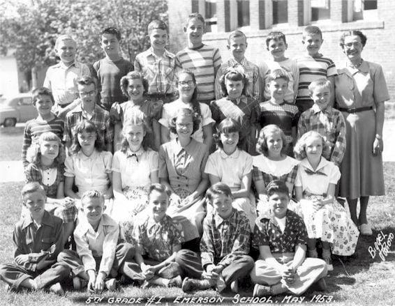 Emerson Elementary School Fifth Grade Class, May 1953