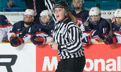 Elizabeth Mantha, Anthony Mantha's sister, will referee at the 2021 IIHF Women's Worlds.