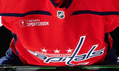 The Capitals will start to feature Caesars Sportsbook's logo on their jerseys in 2022-23.