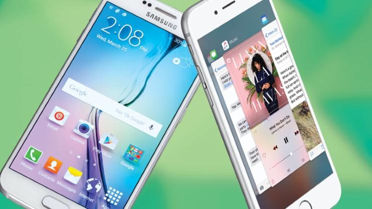 iphone 6s, samsung galaxy S6