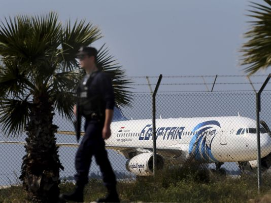 EgyptAir hijacked to Cyprus (Photo- Petros Karadjias, AP)