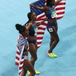 U.S. women sweep 100m hurdles in Olympic first