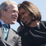 George Bush explains his fondness for Michelle Obama