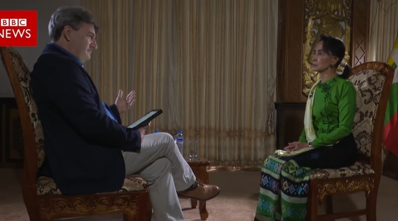 Suu Kyi denies ethnic cleansing