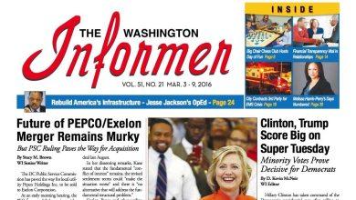 Washington Informer, March 3, 2016