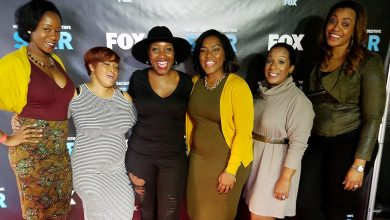 """Event producer Lauren Grant (center, in black), joined by some of her gal pals, hosted the """"HavPlenty Brunch"""" at Acre 121 in Northwest on Sunday, Nov. 13 for a special screening of Lee Daniels' new show """"STAR,"""" which premieres on Jan. 4. /Photo by D. Kevin McNeir"""