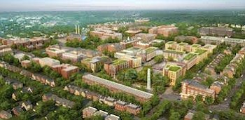 Aerial shot of Walter Reed Campus (Courtesy photo)