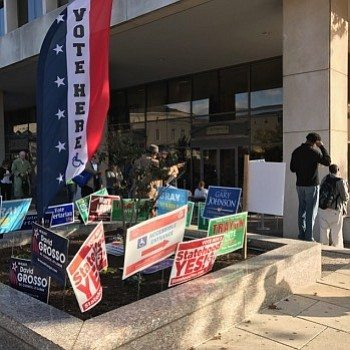 District residents did not let long lines deter them from showing up in record numbers at sites like One Judiciary Square in order to cast their vote on the final day of early voting in Washington, D.C. on Friday, Nov. 4. Photo by Shevry Lassiter