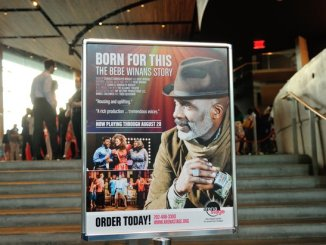 """Patrons line up to attend the musical stage play """"Born for This: The BeBe Winans Story"""" on Thursday, July 7 at the Arena Stage Kreeger Theater in Southwest. /Photo by Patricia Little"""