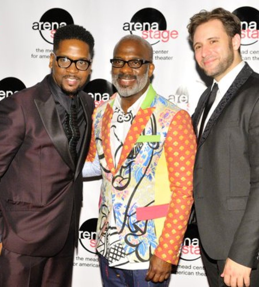 "Gospel recording artists Donald Lawrence (left), Benjamin ""Bebe"" Winans (center) and Music Director Steven Jamail attend the post-show reception for the musical stage play ""Born for This: The BeBe Winans Story"" on Thursday, July 7 at the Arena Stage Kreeger Theater in Southwest. /Photo by Patricia Little"