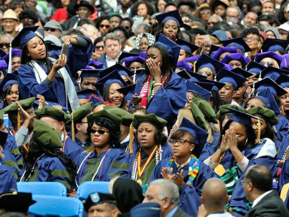 Students participate in the 148th Commencement Convocation at Howard University on Saturday, May 7, 2016 in Northwest. /Photo by Patricia Little
