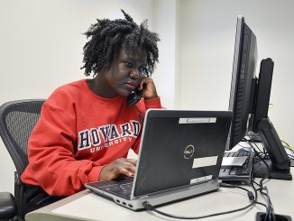 A Howard University student conducts an interview for the 2016 Howard University/NNPA National Black Voters Poll. /Freddie Allen/AMG/NNPA