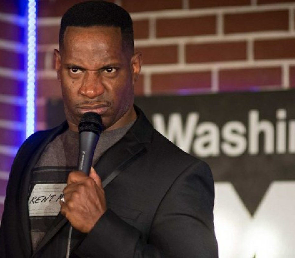NBC's Last Comic Standing Season 8 winner, Rod Man, performs his stand-up routine about marriage and romance at the DC Improv, Friday, April 15, 2016 in northwest. /Photo by Patricia Little @5feet2