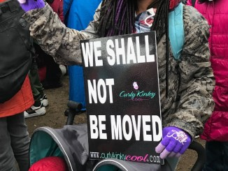 The National Action Network holds a march and rally in D.C. on Jan. 14, ahead of the impending Trump inauguration. (Hamil Harris/The Washington Informer)