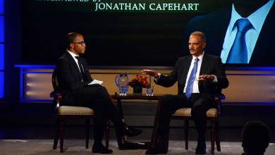 Jonathan Capehart interviews former Attorney General Eric Holder for HistoryMakers /Courtesy Photo