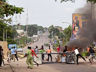 Thousands of residents swarm the streets in protest over the 2017 Congo elections. /Courtesy of aljazeera.com