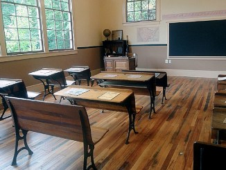 The inside of the Ridgeley Rosenwald School in Capitol Heights after renovations were completed in 2011 (Courtesy of Preservation Maryland)